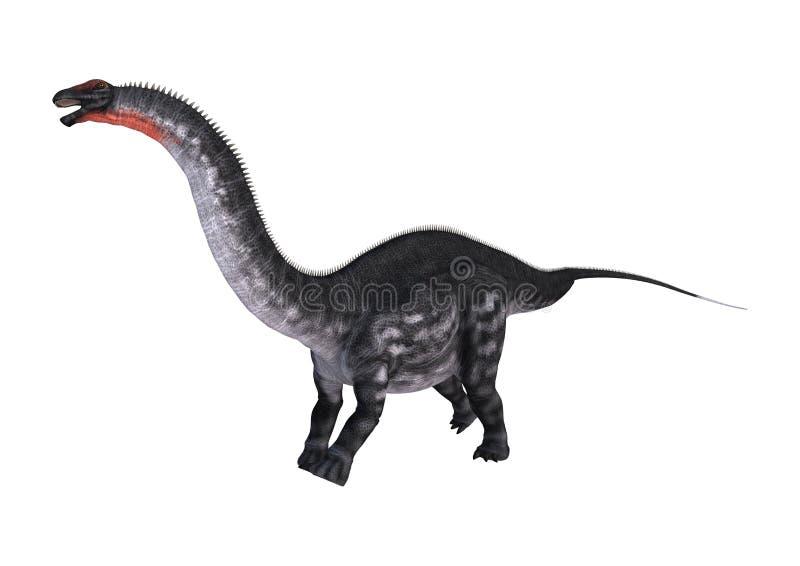 3D翻译在白色的恐龙雷龙属 库存例证