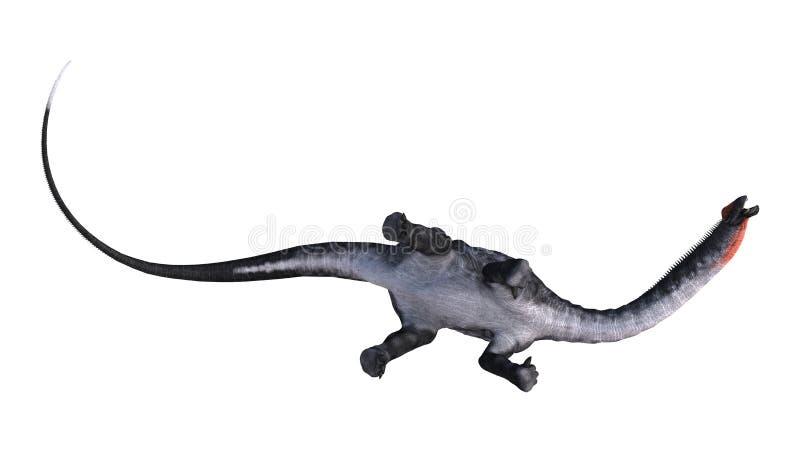 3D翻译在白色的恐龙雷龙属 向量例证