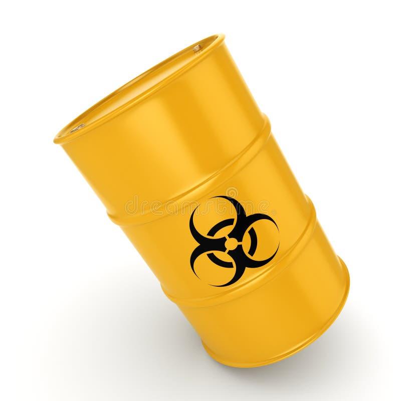 3D翻译生物危害品桶 库存例证