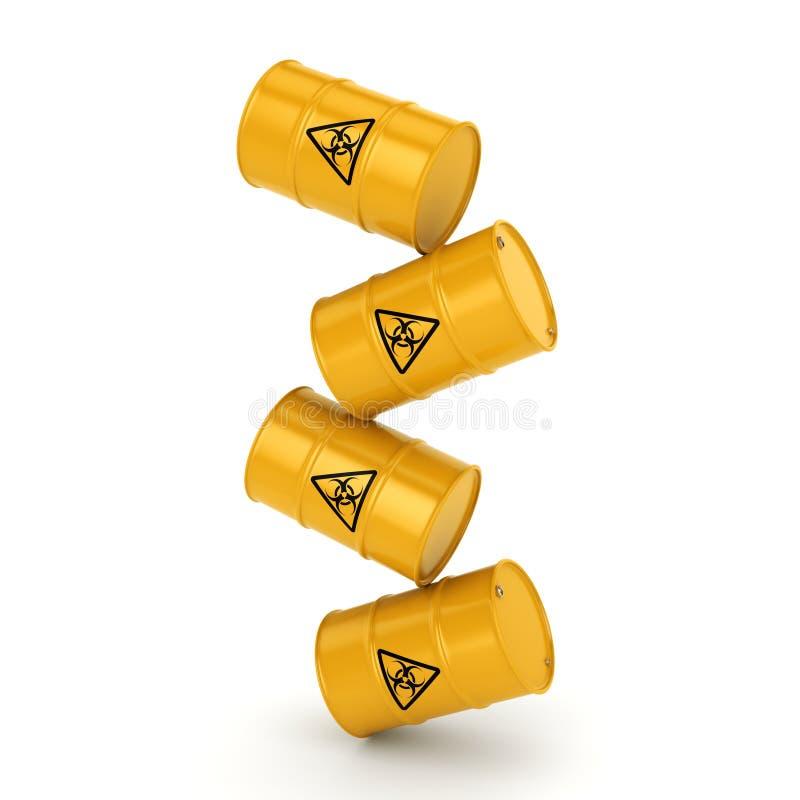 3D翻译生物危害品桶 向量例证