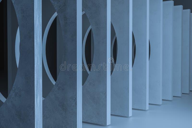 3d翻译,尘土岩石隧道建筑,神奇背景 向量例证