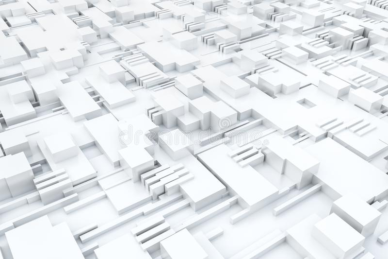 3d翻译,立方体上结构,电路背景 向量例证