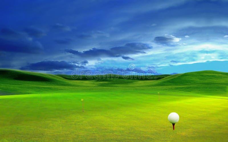 3D翻译,高尔夫球, 免版税库存照片