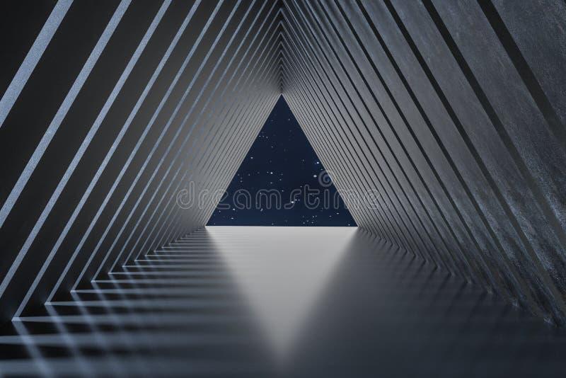 3d翻译,黑暗的创造性的多角形元素 向量例证