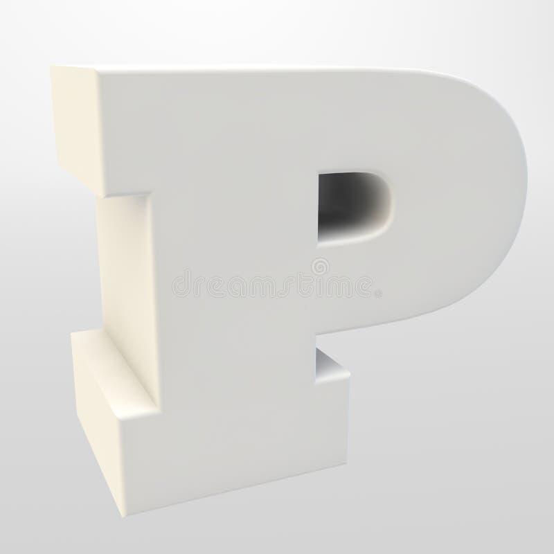 3d翻译 在轻的背景的白色信件 大写字母 向量例证