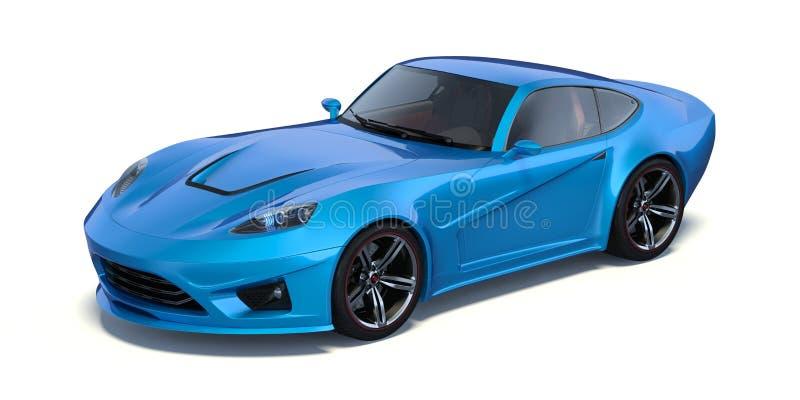 3D翻译-普通概念汽车 向量例证