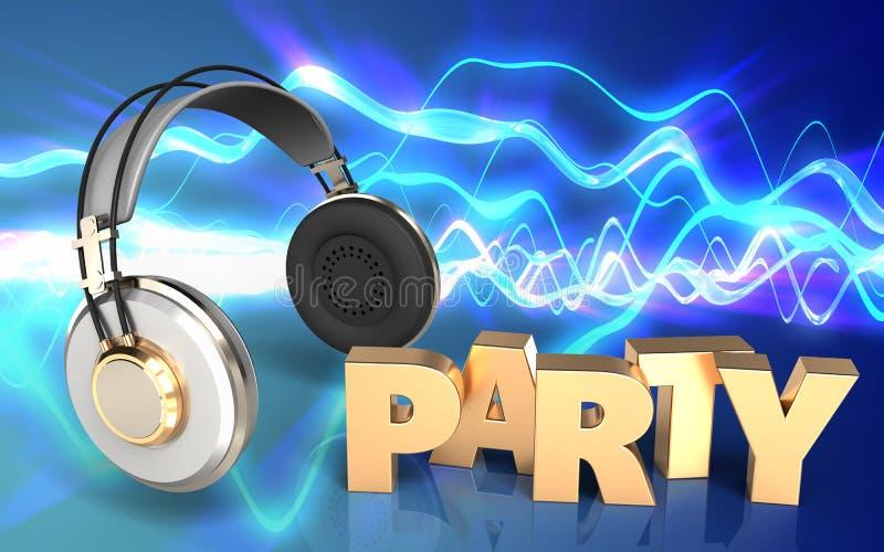3d耳机耳机 向量例证