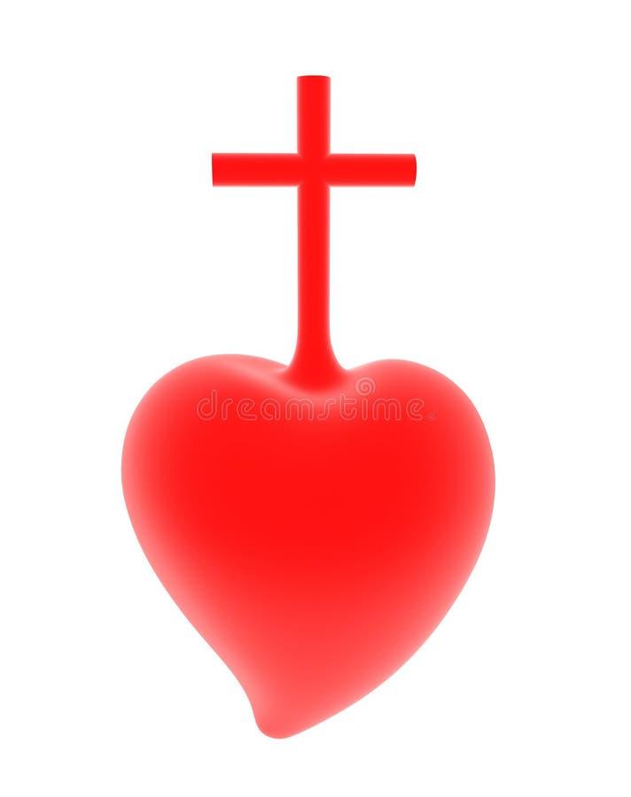 3D耶稣的耶稣圣心的例证 向量例证