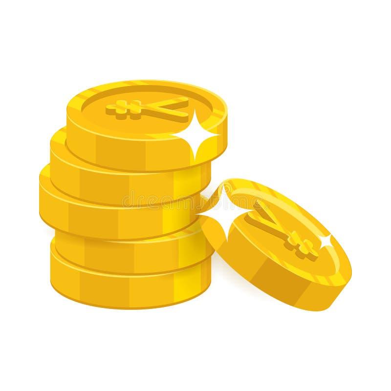 3d背景商业铸造概念金堆例证白色 库存例证