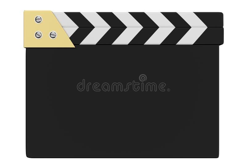 3d背景戏院拍板回报白色 库存例证