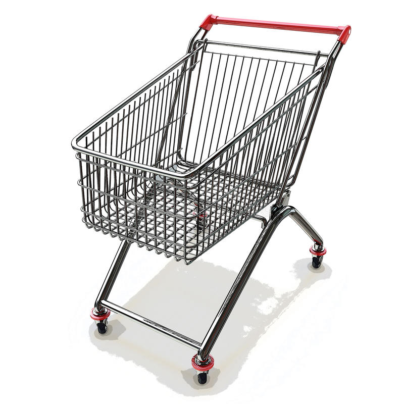 3d背景购物车查出使购物空白 皇族释放例证