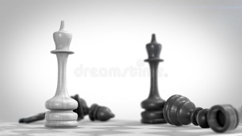 3d背景黑色棋形象高图象回报解决方法 向量例证