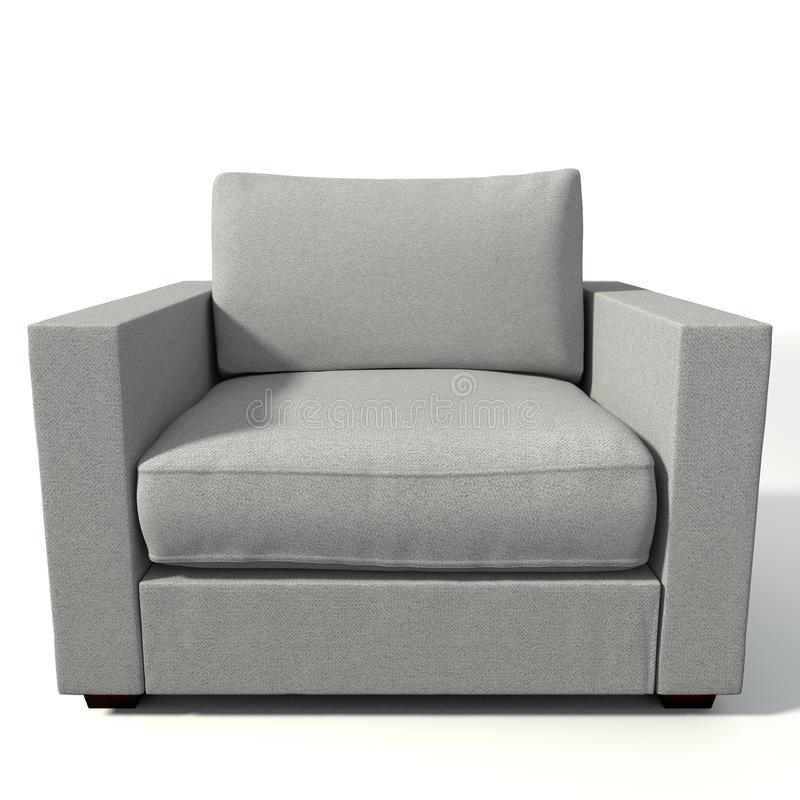 3d胳膊椅子 库存例证