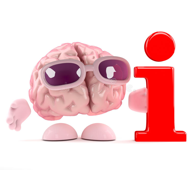 3d脑子信息 皇族释放例证