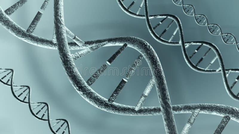3d脱氧核糖核酸genered图象子线 皇族释放例证