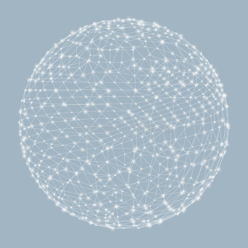 3d范围 全球性数字式连接 技术 向量例证