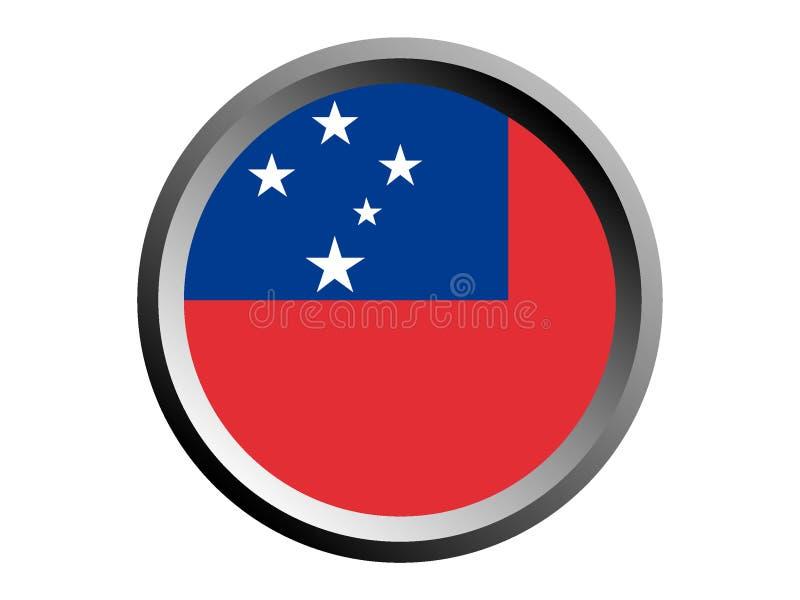 3D萨摩亚的回合旗子 皇族释放例证