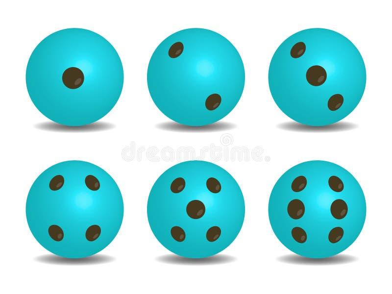 3d蓝色传染媒介切成小方块 库存例证