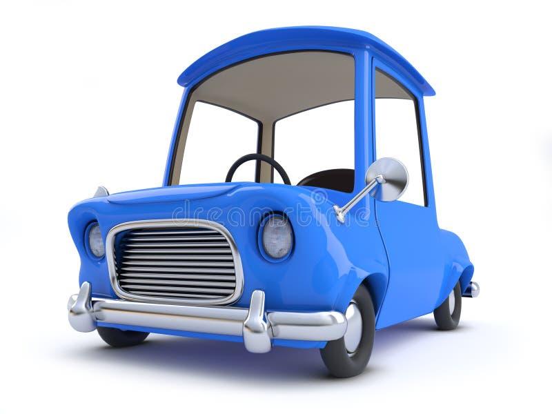 3d蓝色动画片汽车 库存例证