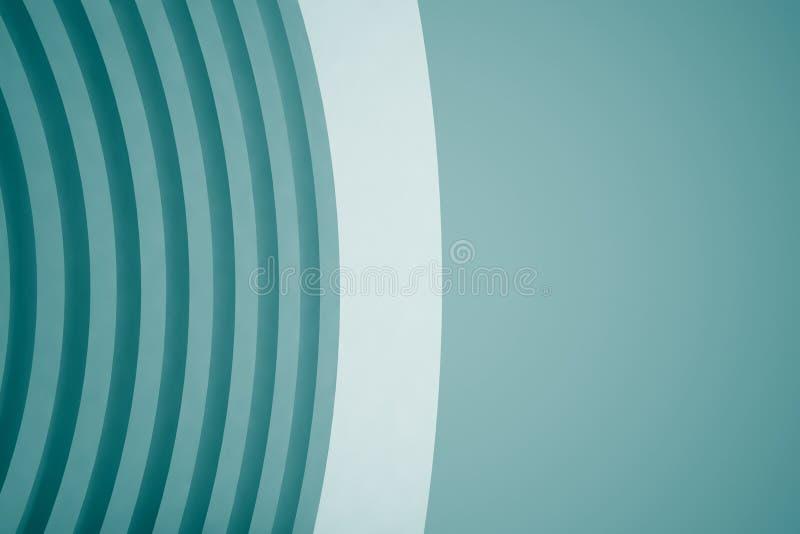 3d蓝色白色现代大厦概念背景 库存例证