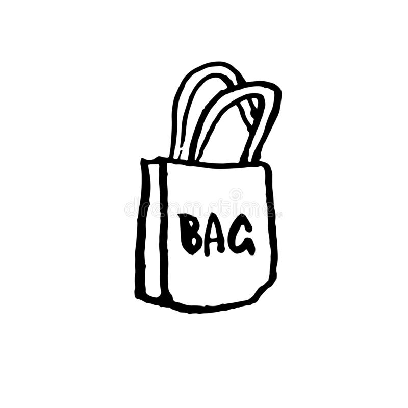 3d袋子美好的尺寸形象例证购物的三非常 刷子难看的东西象 也corel凹道例证向量 库存例证