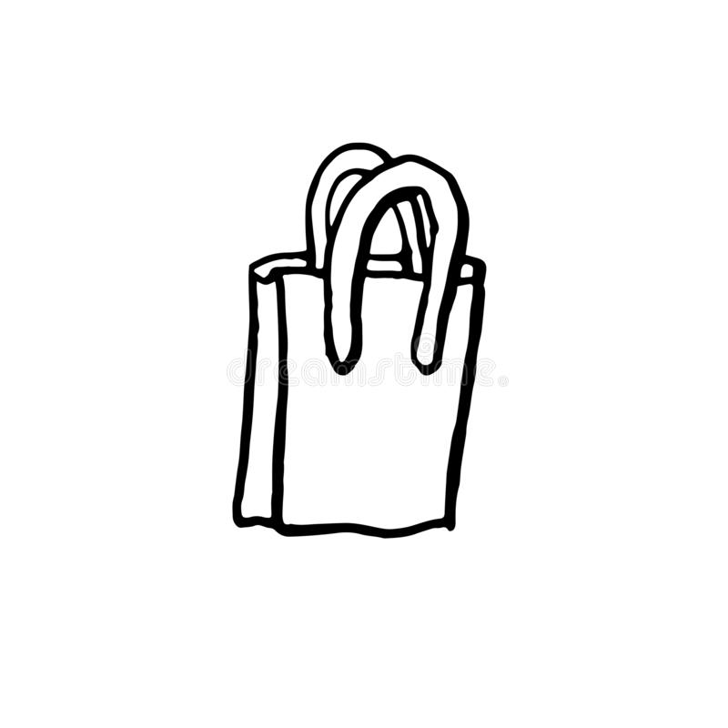 3d袋子美好的尺寸形象例证购物的三非常 刷子难看的东西象 也corel凹道例证向量 向量例证