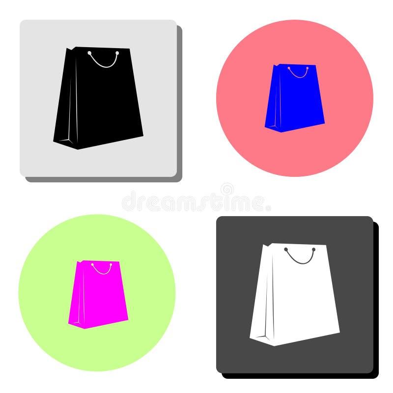 3d袋子美好的尺寸形象例证购物的三非常 平的传染媒介象 皇族释放例证
