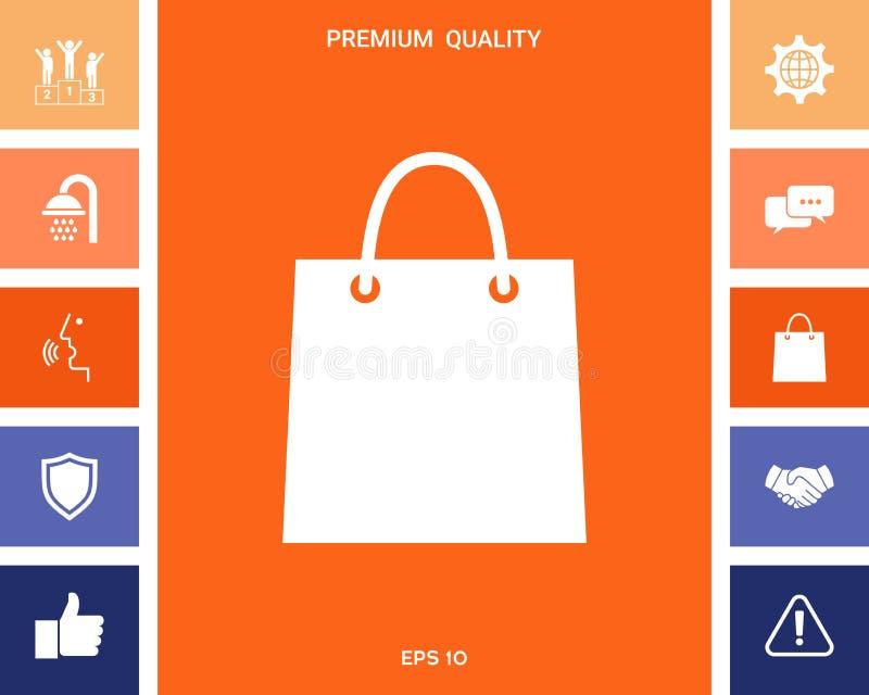 3d袋子美好的尺寸形象例证购物的三非常 库存例证