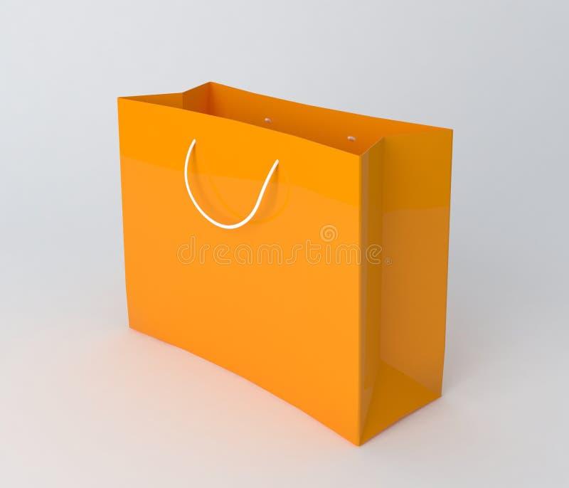 3d袋子美好的尺寸形象例证购物的三非常 免版税库存图片