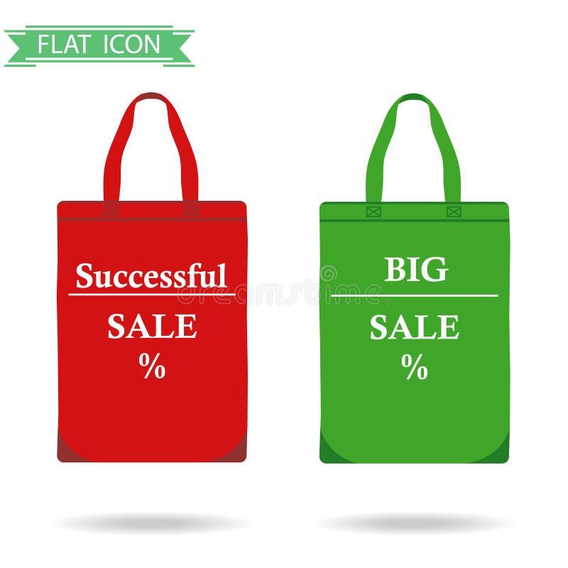 3d袋子美好的尺寸形象例证购物的三非常 向量例证