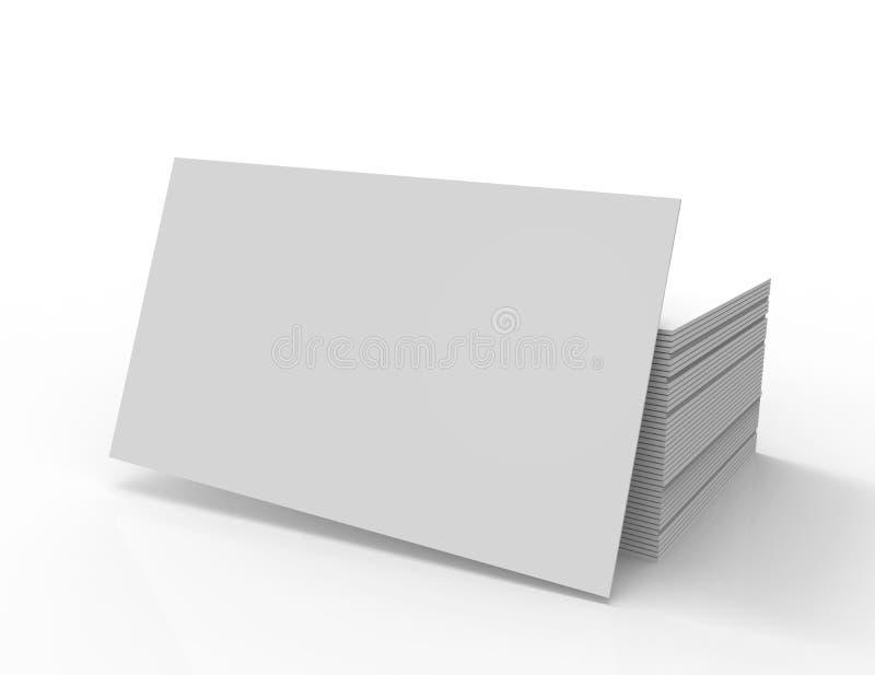 3d被回报的堆空白的名片 皇族释放例证