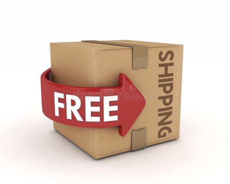 自由运输纸板 皇族释放例证