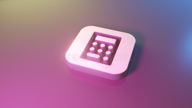 3d计算器应用程序象象回报 向量例证