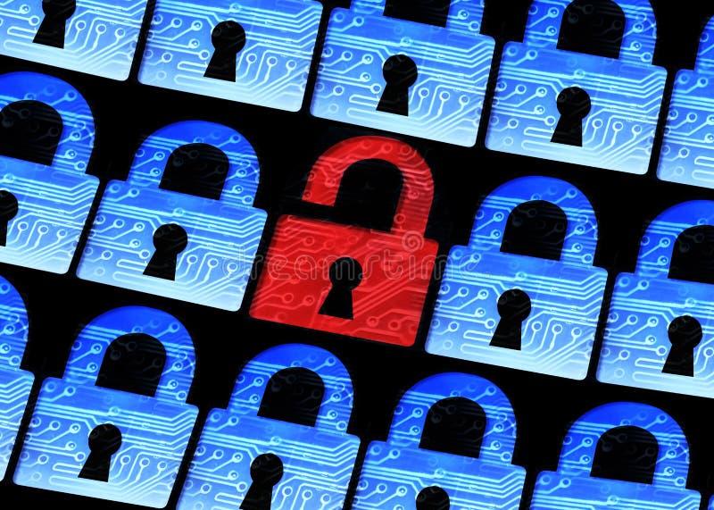 3d计算机例证监控程序证券 库存例证