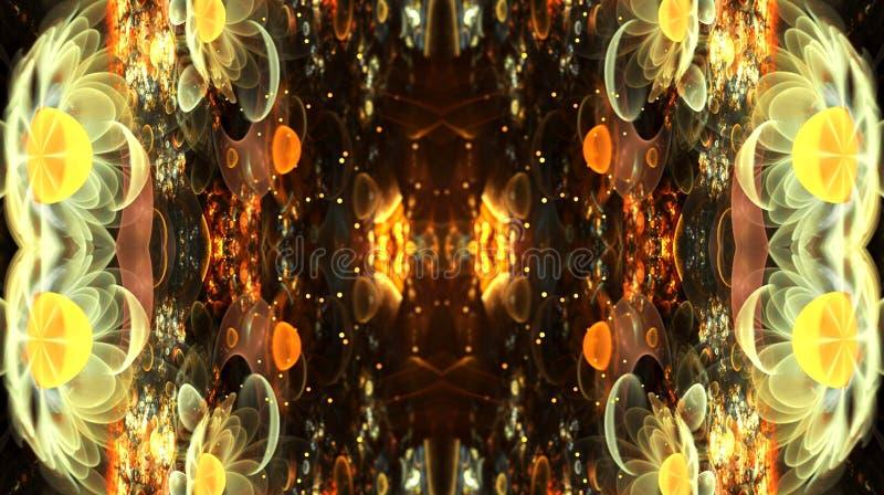 3d计算机生成的发光的艺术性的抽象光学分数维样式艺术品 库存例证