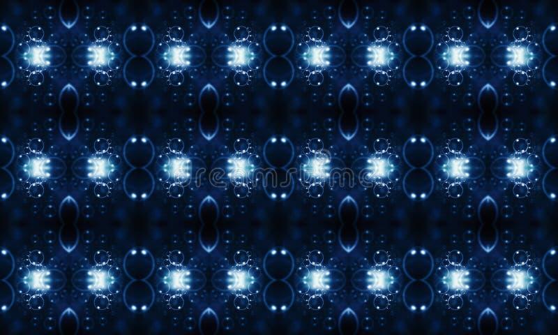 3d计算机生成的独特的多彩多姿的未来派发光的精力充沛的抽象分数维样式背景 库存例证