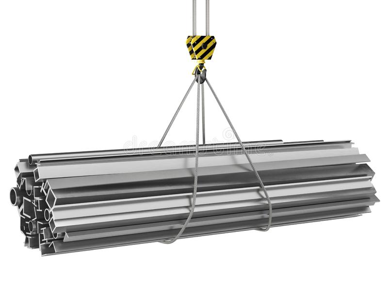 3D起重机勾子的翻译 向量例证