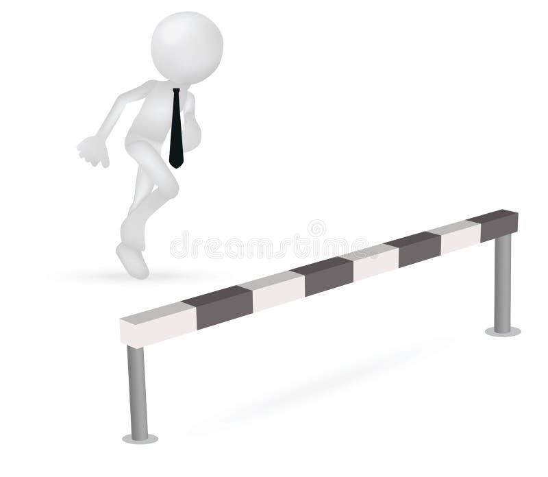 3d跳跃的商人赛跑 皇族释放例证