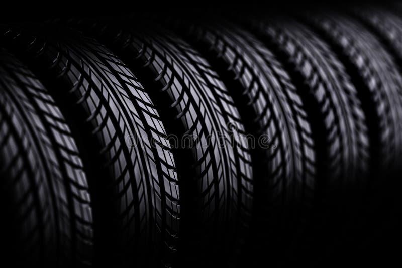 3d轮胎 向量例证