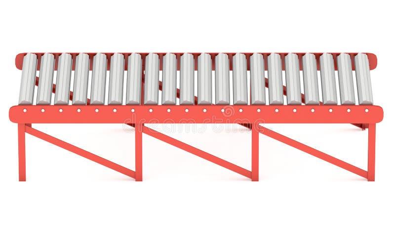 3d辊筒运输机 库存例证