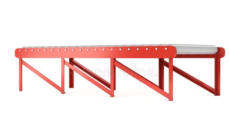 3d辊筒运输机 向量例证