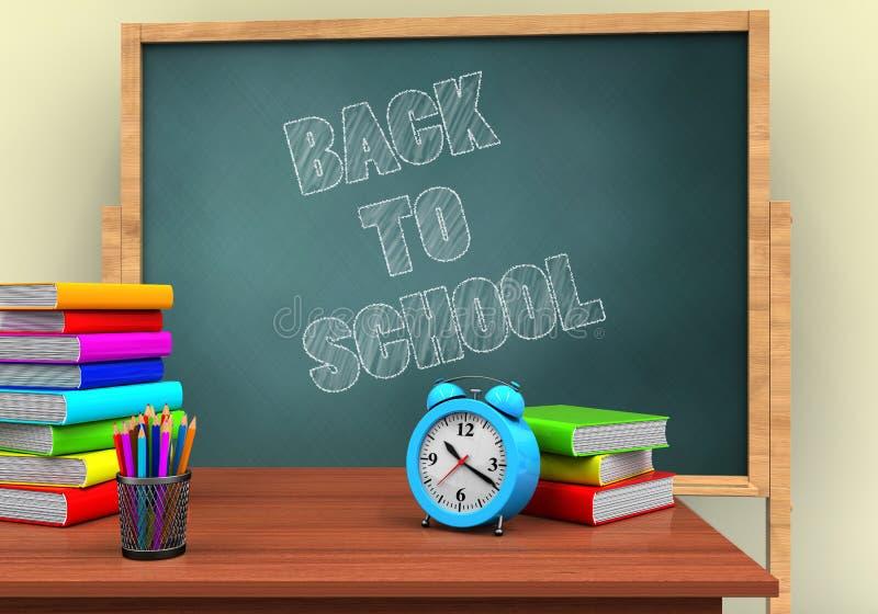 3d返回学校 向量例证