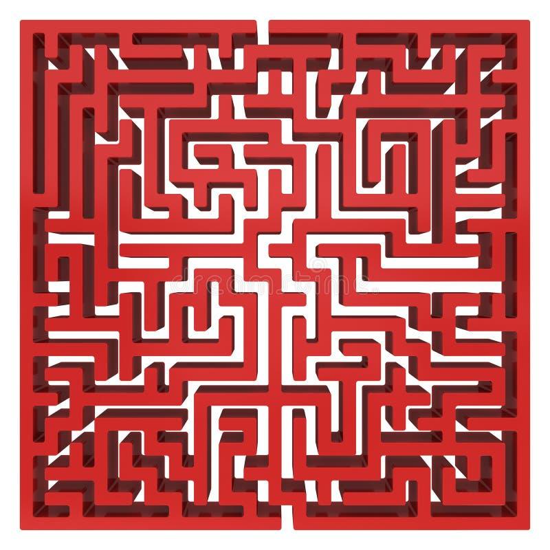 3d迷宫 迷宫形状设计元素 皇族释放例证