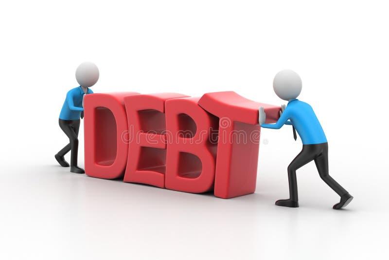 3d避免债务的人尝试 库存例证