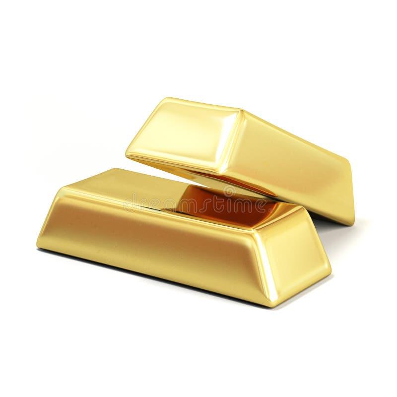 3d金块生成了金子图象 免版税图库摄影