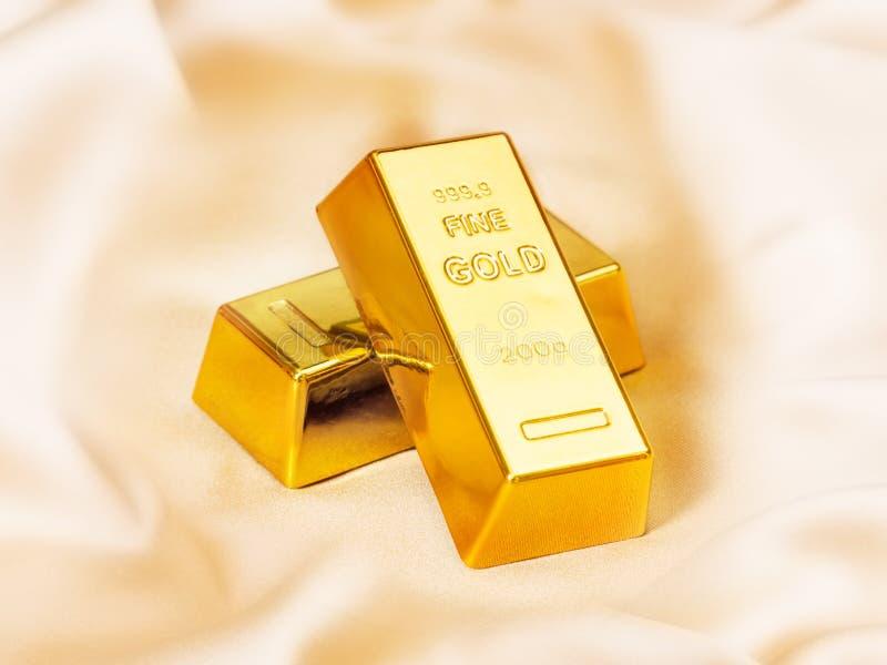 3d金块生成了金子图象 库存照片
