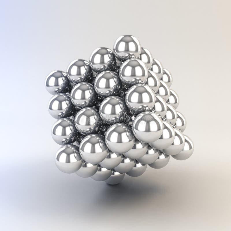 3d金属球形 向量例证