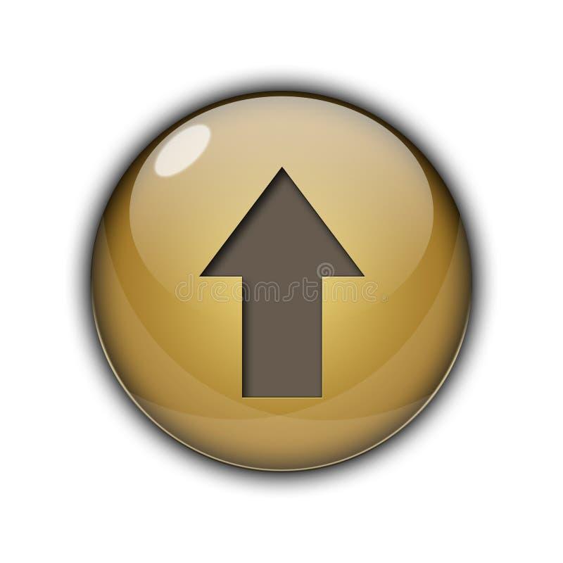 3D金黄棕色颜色的按钮 向量例证