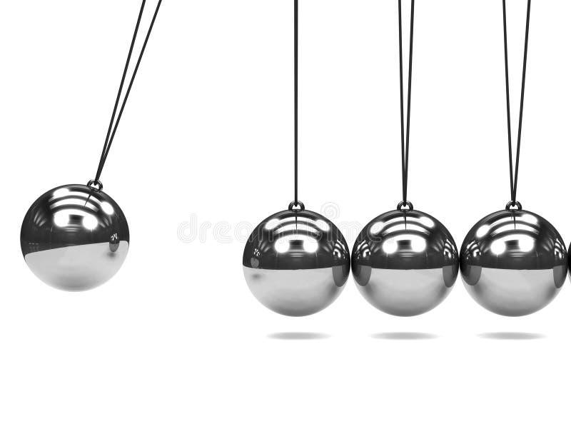 3d银牛顿摇篮 库存例证