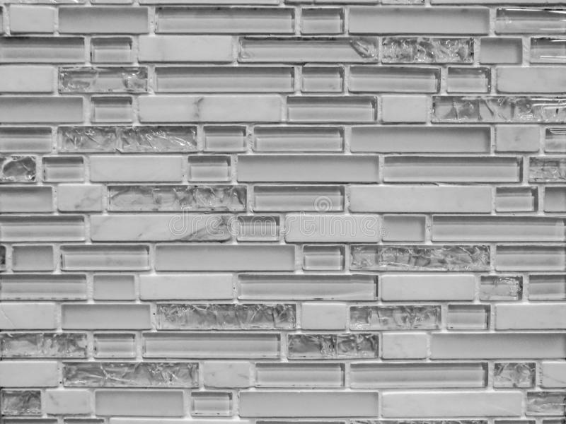 3D银色瓦片样式 免版税库存照片